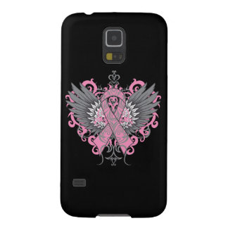 Breast Cancer Cool Wings Cases For Galaxy S5
