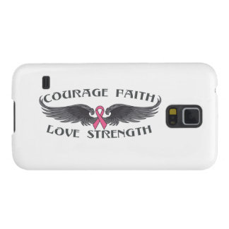 Breast Cancer Courage Faith Strength Wings Samsung Galaxy Nexus Covers