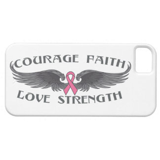 Breast Cancer Courage Faith Strength Wings iPhone 5 Covers