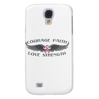 Breast Cancer Courage Faith Wings Samsung Galaxy S4 Case