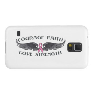 Breast Cancer Courage Faith Wings Galaxy S5 Case