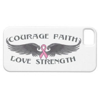 Breast Cancer Courage Faith Wings iPhone 5 Covers