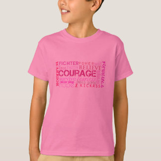 Breast Cancer Courage Word Cloud T-Shirt