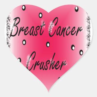 Breast Cancer Crusher Heart Sticker
