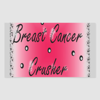 Breast Cancer Crusher Rectangular Sticker