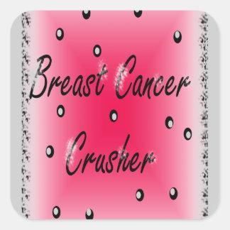 Breast Cancer Crusher Square Sticker