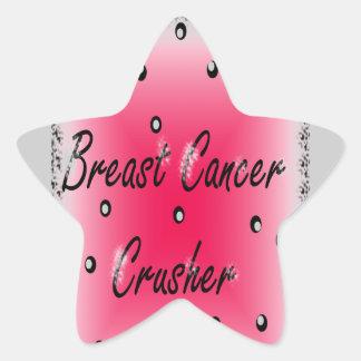 Breast Cancer Crusher Star Sticker