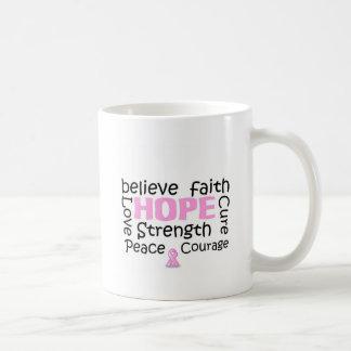 Breast cancer cure coffee mug