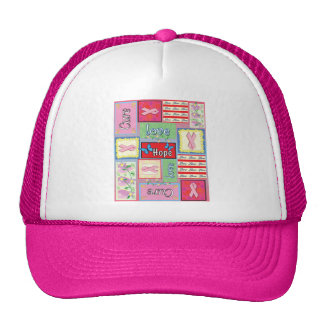 Breast Cancer Cure Collage Trucker Hat