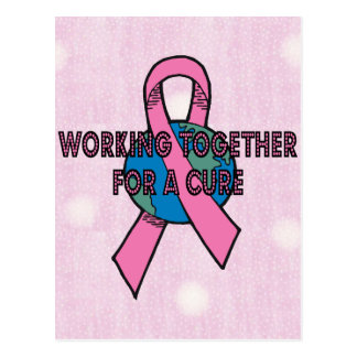 Breast Cancer Cure Postcard