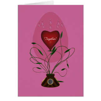 Breast Cancer Cure Russian Egg Greeting Card