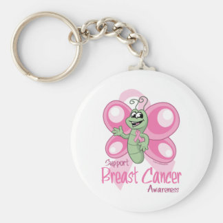 Breast Cancer Cute Butterfly Keychain