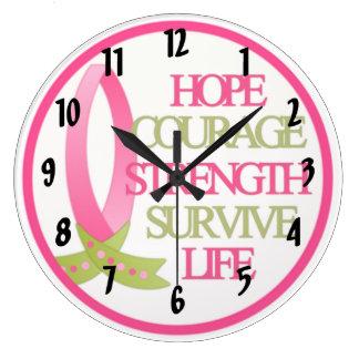 Breast Cancer Design Round Clocks