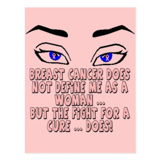 Breast Cancer Does Not Define Me Postcard