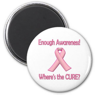 Breast Cancer: Enough Awareness Refrigerator Magnets