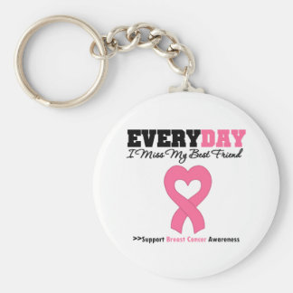 Breast Cancer Every Day I Miss My Best Friend Keychain