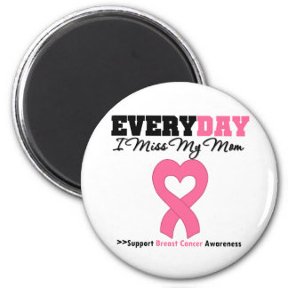 Breast Cancer Every Day I Miss My Mom 2 Inch Round Magnet