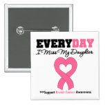 Breast Cancer-Everyday I Miss My Daughter Pinback Buttons