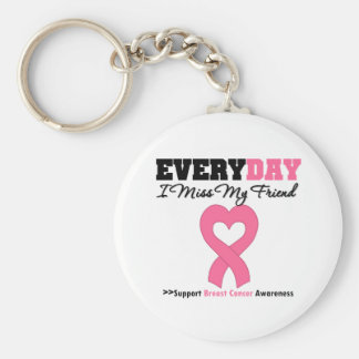 Breast Cancer-Everyday I Miss My Friend Basic Round Button Keychain