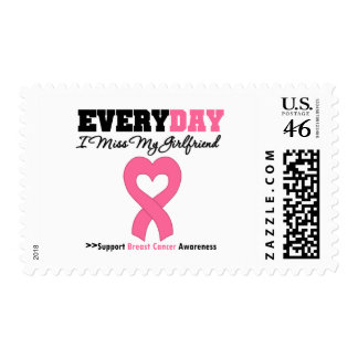 Breast Cancer-Everyday I Miss My Girlfriend Stamp