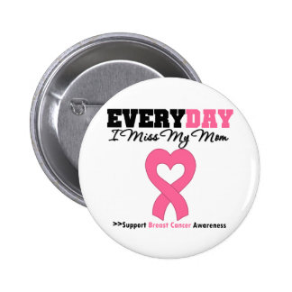 Breast Cancer-Everyday I Miss My Mom 2 Inch Round Button