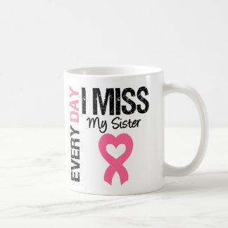 Breast Cancer Everyday I Miss My Sister Coffee Mug