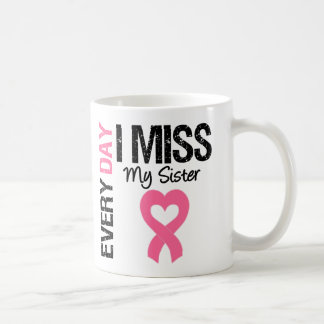 Breast Cancer Everyday I Miss My Sister Classic White Coffee Mug