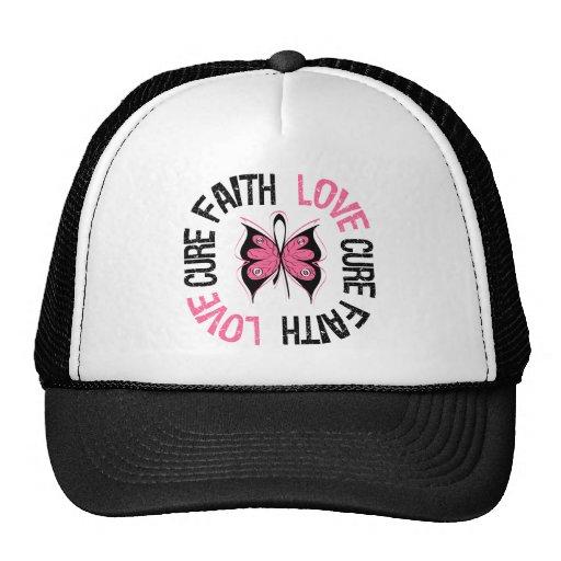 Breast Cancer Faith Love Cure Mesh Hats