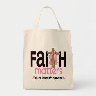 Breast Cancer Faith Matters Cross 1 Tote Bag