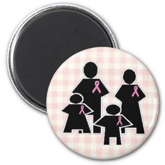 Breast Cancer Family Battle 2 Inch Round Magnet