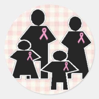Breast Cancer Family Battle Round Sticker