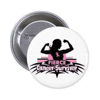 Breast Cancer Fierce Cancer Survivor Button