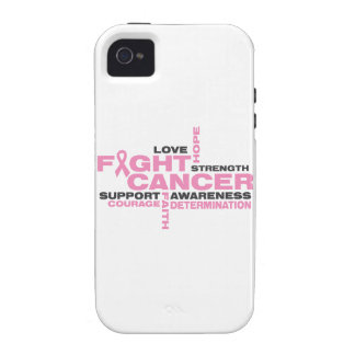 Breast Cancer Fight Collage iPhone 4/4S Cases