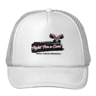 Breast Cancer Fight For A Cure Butterfly Mesh Hat