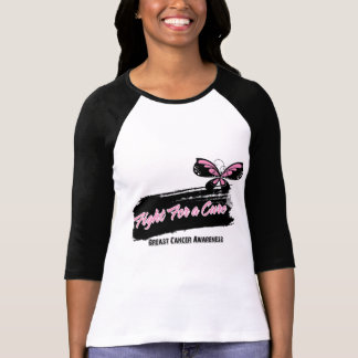 Breast Cancer Fight For A Cure Butterfly T-Shirt