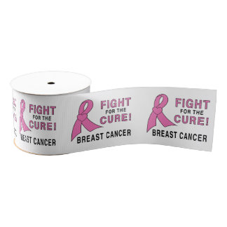 "Breast Cancer Fight for the Cure 3"" Grosgrain Ribbon"
