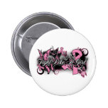 Breast Cancer  Fight Like A Girl Grunge Butterfly Pinback Button