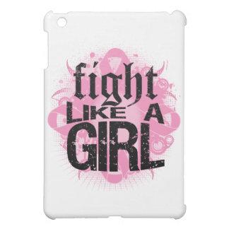 Breast Cancer Fight Like A Girl Rock Ed. iPad Mini Covers