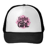 Breast Cancer Fight Like A Girl Rock Ed. Mesh Hat