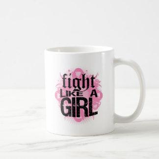 Breast Cancer Fight Like A Girl Rock Ed. Classic White Coffee Mug