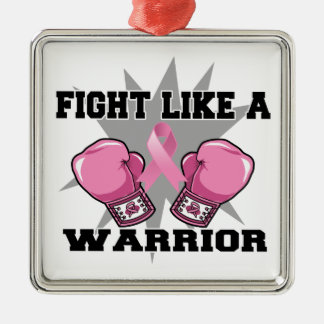Breast Cancer Fight Like a Warrior Christmas Ornaments