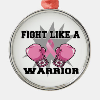 Breast Cancer Fight Like a Warrior Christmas Tree Ornament