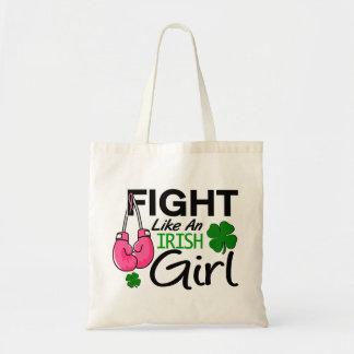 Breast Cancer Fight Like An Irish Girl 1 Canvas Bag
