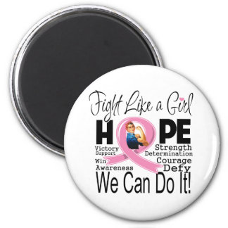 Breast Cancer Fight We Can Do It Refrigerator Magnet
