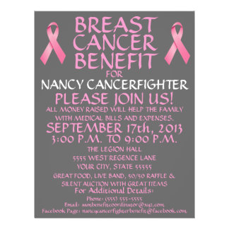 Breast Cancer Fighter Benefit Flyer