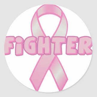 Breast Cancer Fighter Classic Round Sticker