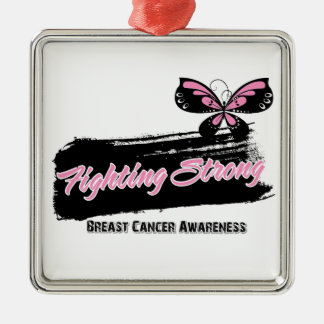 Breast Cancer Fighting Strong Butterfly Ornament