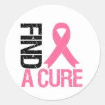 Breast Cancer Find A Cure Classic Round Sticker
