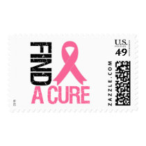 Breast Cancer Find A Cure Postage Stamp