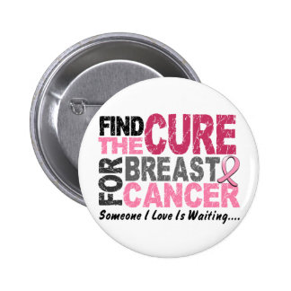 BREAST CANCER Find The Cure 1 Button